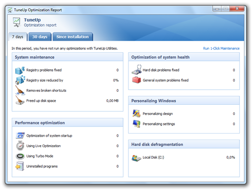 New features in TuneUp Utilities 2010