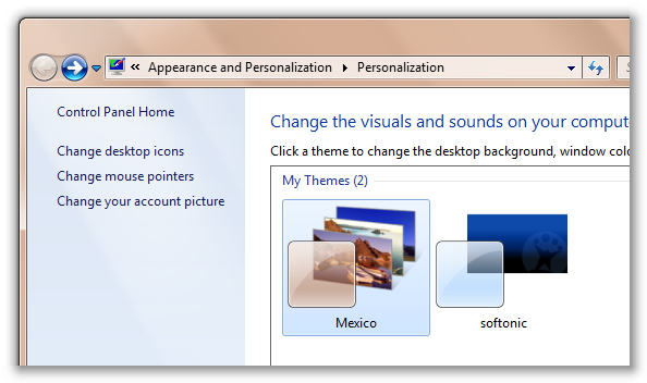 Find additional regional themes in Windows 7