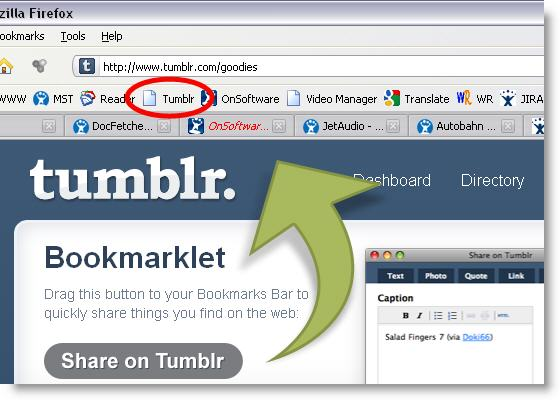 What's a bookmarklet?