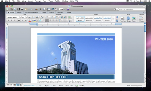 Microsoft Office 2011 screenshot