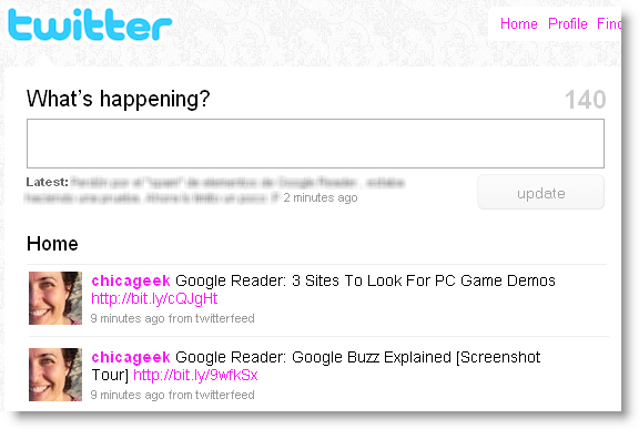 Share Google Reader starred items on Twitter