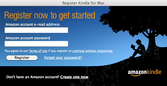 kindle for mac registration