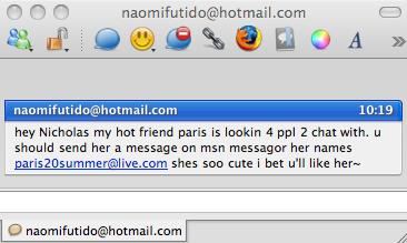 Adium spam