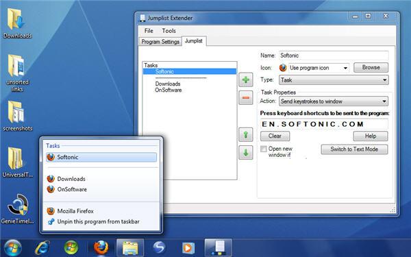 Create custom jumplists in Windows 7
