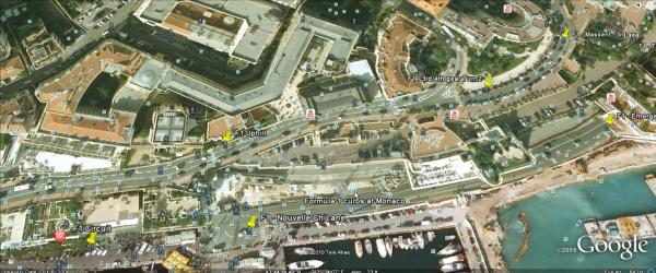 Monaco Grand Prix layout