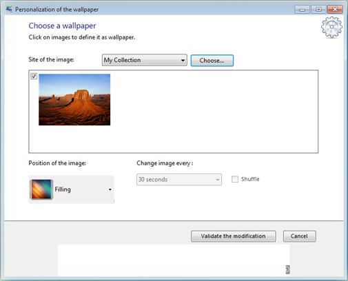 Customize the wallpaper in Windows 7 Starter Edition