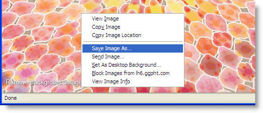 How to download Google background images