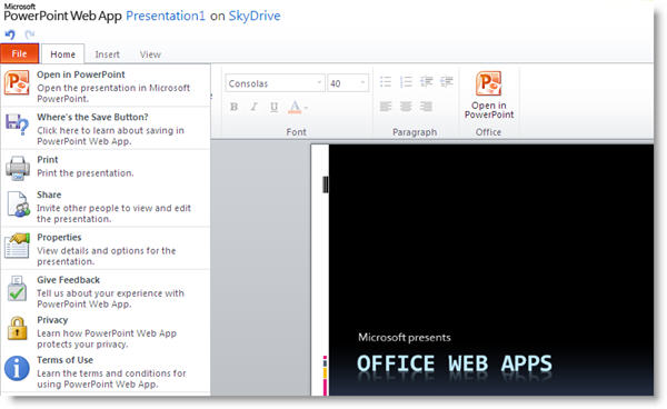 Office Web Apps: the online version of Microsoft Office