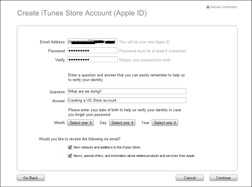 How to open US iTunes account without US credit card