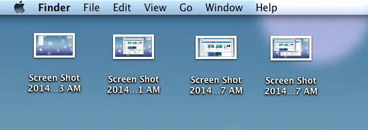 Screenshots on Desktop