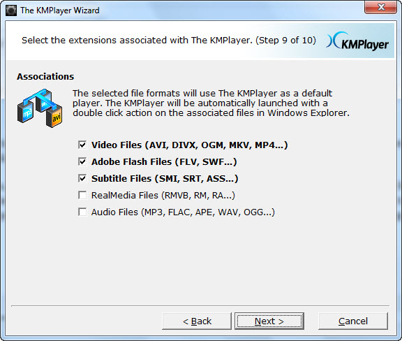 how to set windows media player as default for dvd