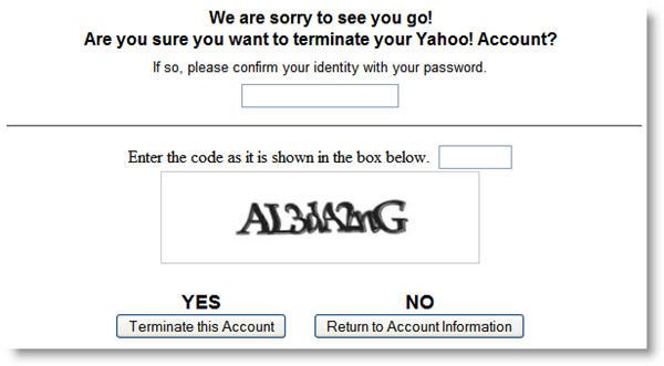 delete yahoo profile