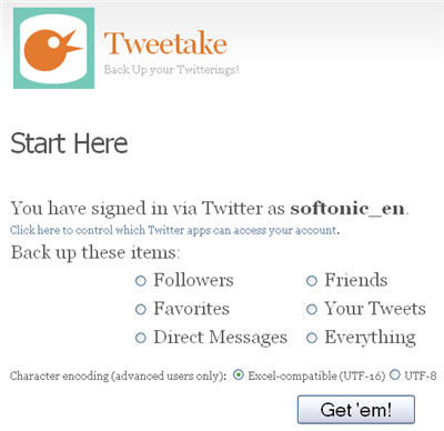 backup your Twitter account