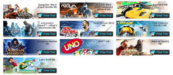 Free Gameloft trials