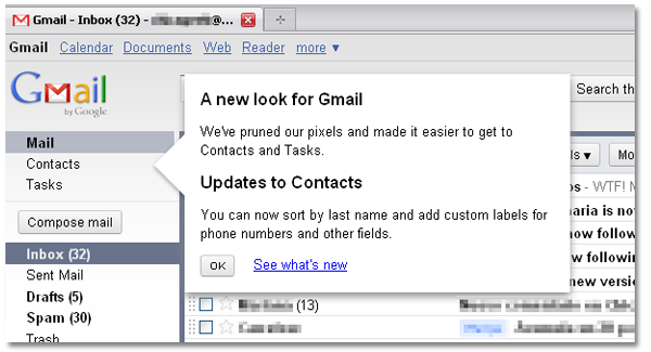 What's new in Gmail interface