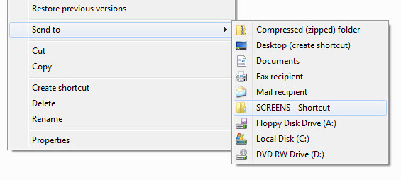 Customize the Send to menu on Windows 7