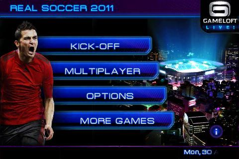 Real Soccer Menus