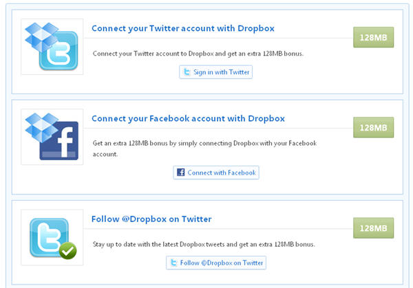 Get an extra 512MB free in Dropbox