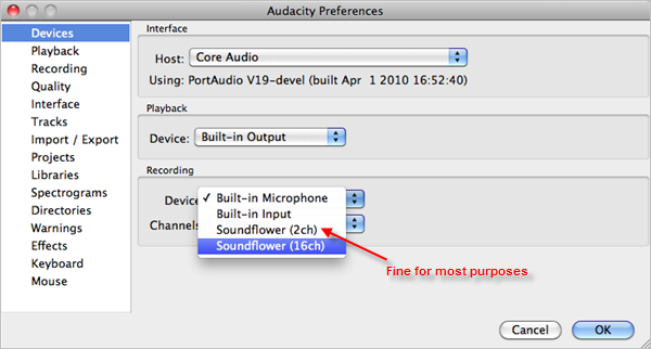 recording streaming audio mac audacity