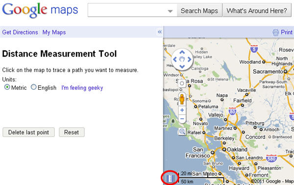 How to: Measure distances in Google Maps
