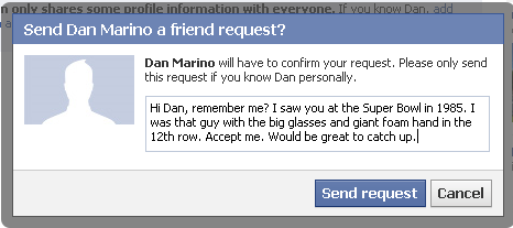 Be clear in friend requests