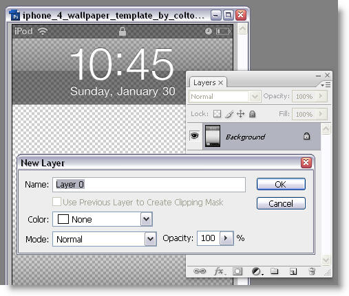 How to: Create an iPhone 4 wallpaper in Photoshop