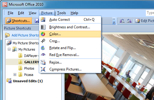 Edit your photos with Microsoft Office Picture Imager