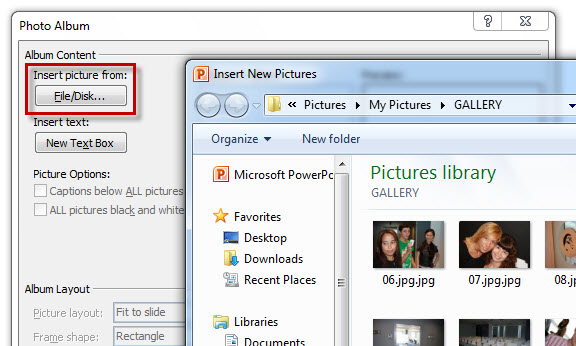 how to make a photo slideshow in powerpoint 2011