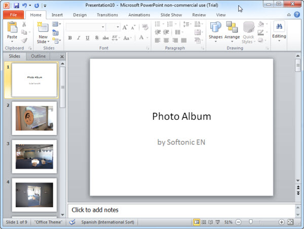 How to: Create a photo slideshow in PowerPoint