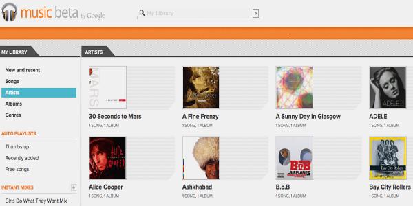 First look: Google Music Beta