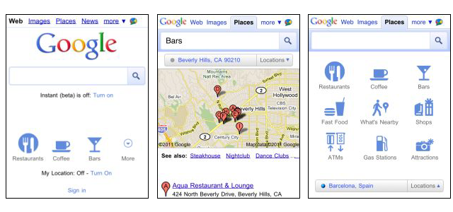 Google Places for mobile
