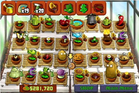 The new Zen Garden feature of Plants vs Zombies