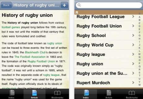 History of Rugby Union