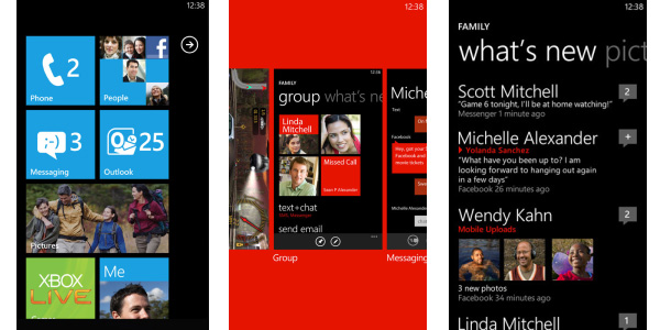 Windows Phone interface