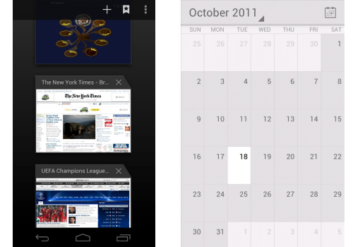 Browser and Calendar