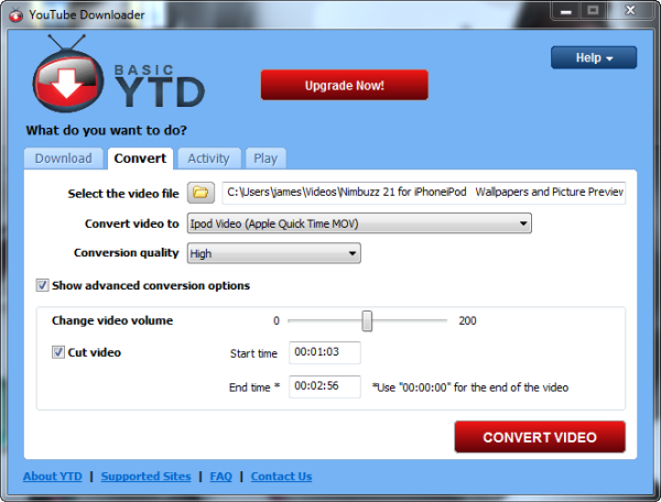 How to: cut YouTube videos with YouTube Downloader