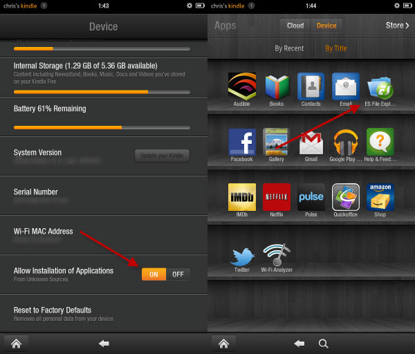 how to search in kindle app android