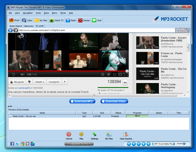 Upgrade to MP3 Rocket Pro