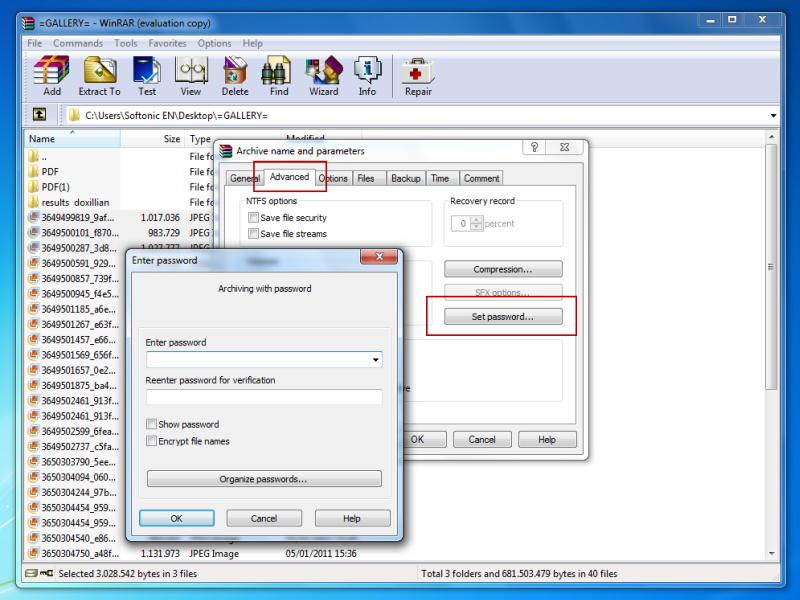 get password for rar file