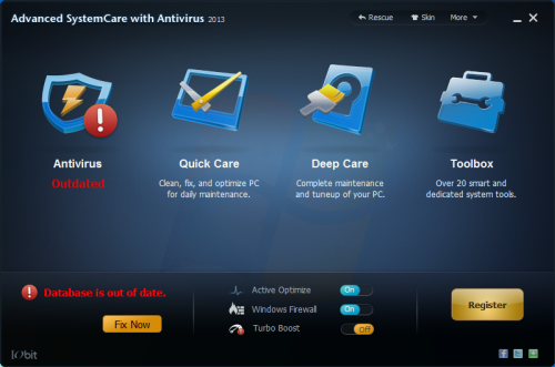 iobit advanced systemcare with antivirus main