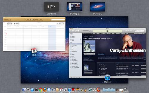 OS X mission control