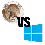 mountain lion vs windows 8 icon