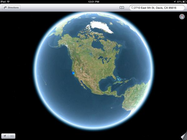ios 6 globe
