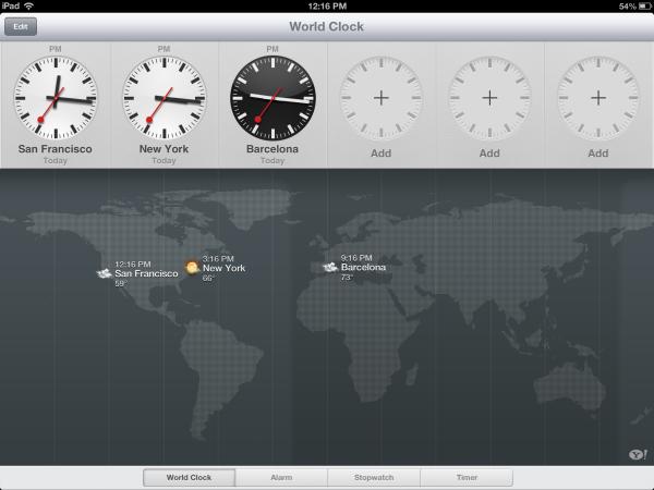 ipad clock app