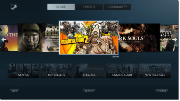 steam big picture interface