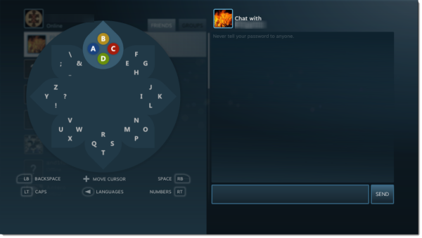 steam big picture keyboard