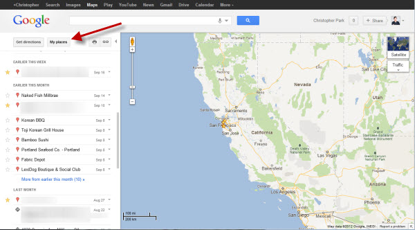 Google Maps syncs search history with Android
