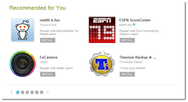 Google Play updates with personalized recommendations