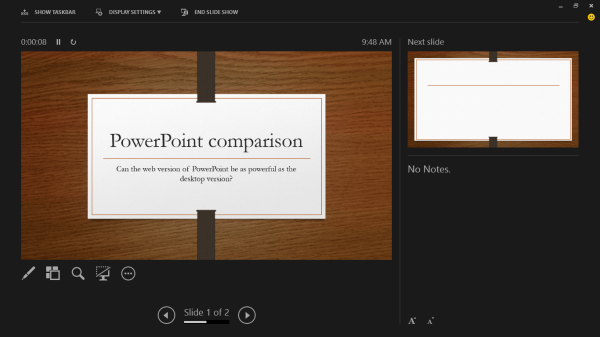 powerpoint 2013 presentation view