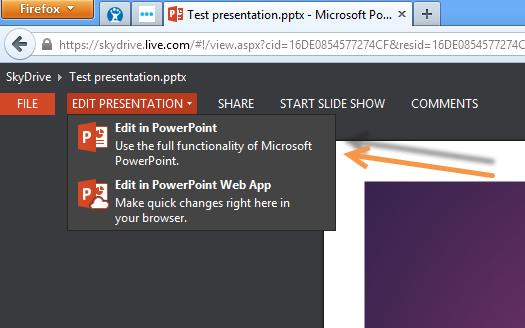 powerpoint 2013 web app